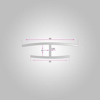 10mm H Profili a